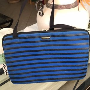 REBECCA MINKOFF 15 inch striped laptop case bag in excellent condition!